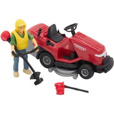 Delovni stroj/vozilo, s pripomočki ter figuro delavca, 13cm, sort.