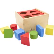 Namizna lesena igra, boks za vstavljanje oblik, 17.3x17.3x9.9cm
