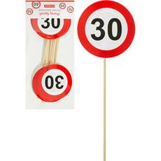 Prometni znak na palčki, 30, 1/6, 26cm, sort.