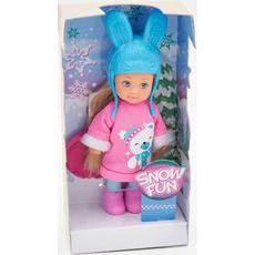 """Punčka, Evi Love, """"Snow Fun"""", s pripomočki, 12cm"""