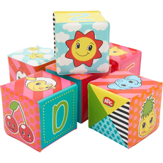 Set mehkih kock za dojenčka, PVC, 6/1, 8x8cm, 6m+