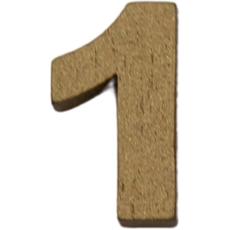 Številka 1, lesena, zlata, 1.5cm