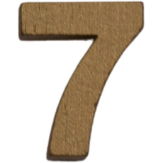 Številka 7, lesena, zlata, 1,5cm