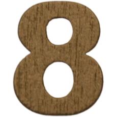 Številka 8, lesena, zlata, 1,5cm