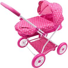 Voziček za punčke, roza, 35x55x56cm