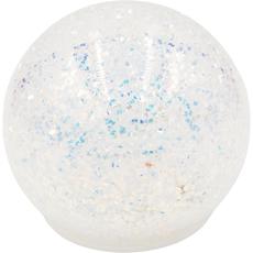 Steklena krogla z glitri, z LED lučko, 12cm