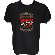Majica-Vrhunska kakovost že od 1961-Premium L-črna