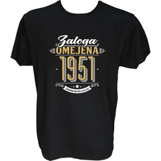 Majica-Zaloga omejena 1951-takšnih ne delajo več L-črna