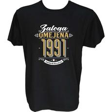 Majica-Zaloga omejena 1991-takšnih ne delajo več M-črna