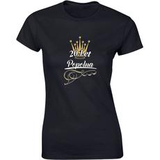 Majica ženska (telirana)-20 let popolna S-črna