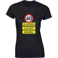Majica ženska (telirana)-40 - 18letnica z 22 leti izkušenj S-črna