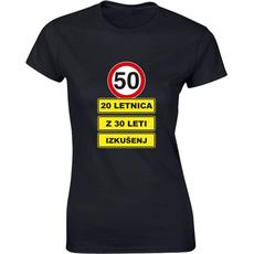 Majica ženska (telirana)-50 - 20letnica z 30 leti izkušenj S-črna