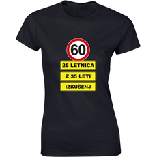 Majica ženska (telirana)-60 - 25letnica z 35 leti izkušenj S-črna