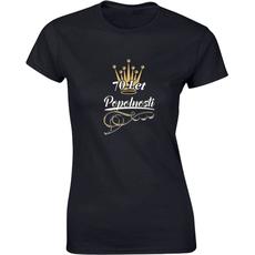 Majica ženska (telirana)-70 let popolnosti S-črna