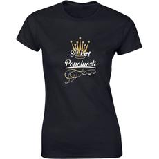 Majica ženska (telirana)-80 let popolnosti S-črna