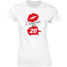 Majica ženska (telirana)-Čudovita pri 20 - poljubček S-bela