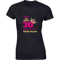 Majica ženska (telirana)-Danes jih imam 30 in sem še vedno rosno mlada S-črna
