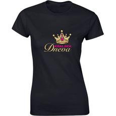 Majica ženska (telirana)-Kraljica dneva - krona S-črna