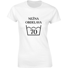 Majica ženska (telirana)-Nežna obdelava 70 S-bela