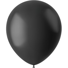 Baloni črni - mat, iz lateksa, 10kom, 33cm