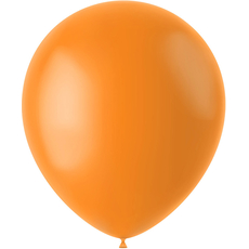 Baloni Tangerina oranžni - mat, iz lateksa, 50kom, 33cm