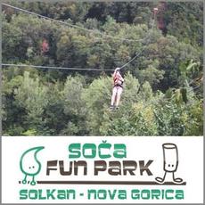 {[sl]:Spust poguma - spust po jeklenici FlyingFox, Soča fun park, Solkan (Vrednostni bon, izvajal