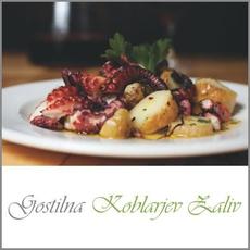 {[sl]:Hobotnica v pečici za 2 osebi, Gostilna Koblarjev zaliv, Maribor (Vrednostni bon, izvaj