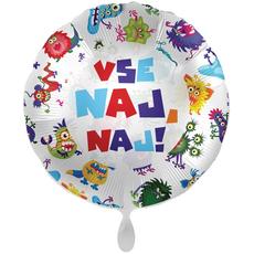 Balon napihljiv, za helij, Vse naj naj, pošasti, 43 cm