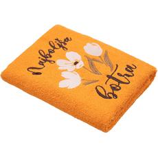 Brisača Najboljša botra, oranžna, 100x5Ocm, 100% bombaž