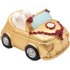 Hranilnik, kabriolet za zlato poroko, polimasa, 7x16cm