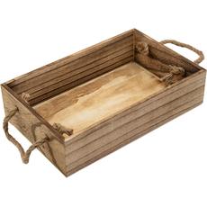 Pladenj lesen, podolgovat, z ročaji, 28x18x6.3cm