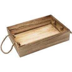 Pladenj lesen, podolgovat, z ročaji, 34x24x7.3cm