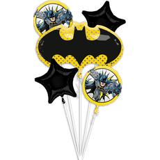 Set balonov - balon napihljiv, za helij, Batman, 76x43cm, 2x zvezda, 48cm, 2x okrogel, 43cm