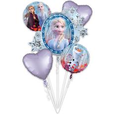 Set balonov - balon napihljiv, za helij, Frozen II, 76x66cm, 2x okrogel, 43cm, 2x srček, 43cm