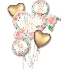 {[sl]:Set balonov - balon napihljiv, za helij, srček, Sweet Baby Girl, 68x50cm, 2x s