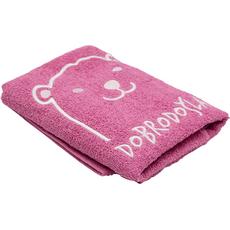 Brisača za rojstvo, medo, Dobrodočla, svetlo roza, 100x50cm, 100% bombač