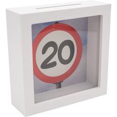 Hranilnik lesen, bel, Prometni znak 20, 15x15x5cm