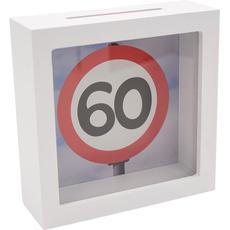 Hranilnik lesen, bel, Prometni znak 60, 15x15x5cm