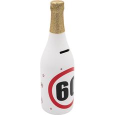 Hranilnik -šampanjec, prometni znak 60, keramika, 30cm