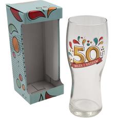 Kozarec za pivo, 50let, varjen z navdihom, 600ml