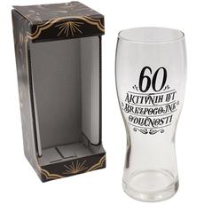 Kozarec za pivo, 60 aktivnih let brezpogojne odličnosti, 600ml