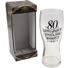 Kozarec za pivo, 80 nepozabnih let življenjske modrosti, 600ml