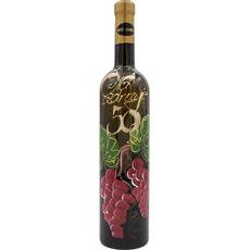 Vino Rumeni muレkat, 0.75l, poslikana steklenica - Na zdravje 50 grozd
