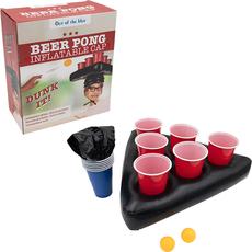 """Družabna pivska igra, """"Beer pong"""", v obliki napihljive kape"""