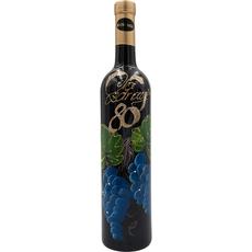 Jubilejno vino, 0.75l, poslikana steklenica - Na zdravje 80 - grozd