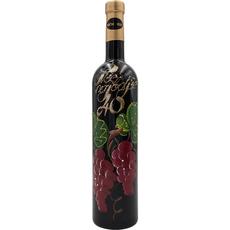 Jubilejno vino, 0.75l, poslikana steklenica - Vse najboljše 40 - grozd