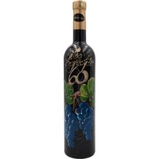 Jubilejno vino, 0.75l, poslikana steklenica - Vse najboljše 60 - grozd