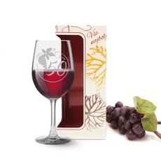 Kozarec za vino graviran - grozd 50, 0.58l