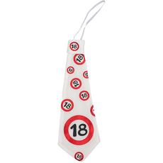 Kravata iz blaga - prometni znak 18,  31cm