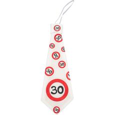 Kravata iz blaga - prometni znak 30,  31cm